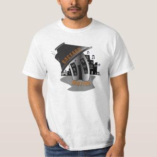 Camiseta del blanco de Bacyard Muzikk