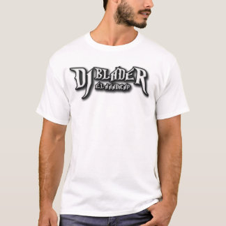 Camiseta del blanco de DJ BladeR