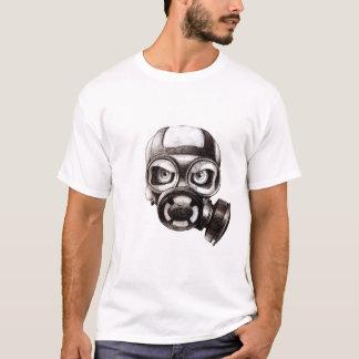 Camiseta del blanco de la máscara del cráneo