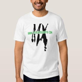 camiseta del blanco de PsychMxGrafix.com