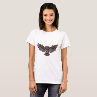 Camiseta del blanco del búho