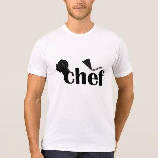 Camiseta del blanco del chef de repostería de Pati