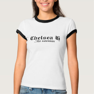 Camiseta del Blanco-Negro-Ajuste de Chelsea H
