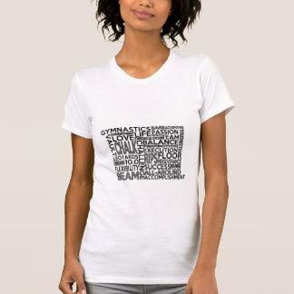 Camiseta del bloque de palabra de la gimnasia