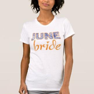 Camiseta del boda de la novia de junio