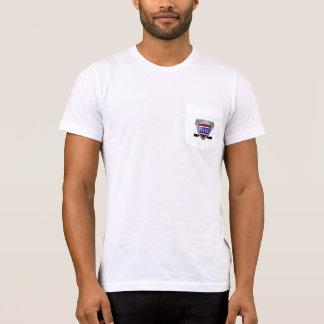 Camiseta del bolsillo de American Apparel de los