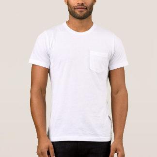 Camiseta del bolsillo de la ropa de los hombres,