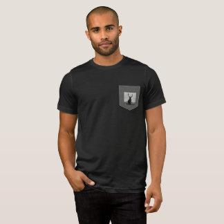 Camiseta del bolsillo de los hombres reales del