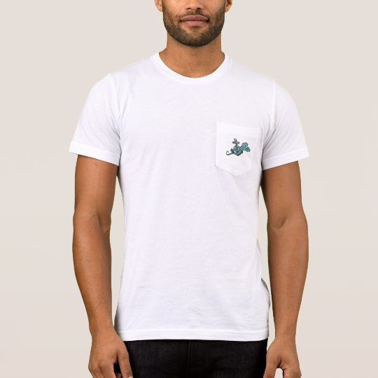 Camiseta del bolsillo del ancla del pulpo que ase