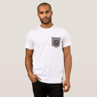 Camiseta del bolsillo del logotipo de la