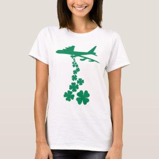 Camiseta del bombardero de la paz del trébol