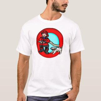 Camiseta del bombero de los niños