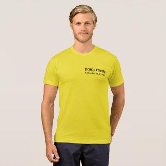 Camiseta del borzoi del agolpamiento del melocotón