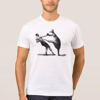 Camiseta del boxeo del canguro del vintage