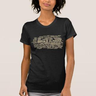 Camiseta del BRASIL del brillo