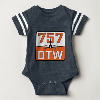 Camiseta del Broche-Cierre del bebé de 757 DTW
