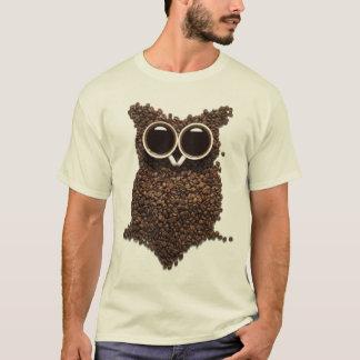Camiseta del búho del café