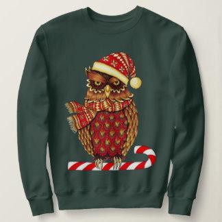 Camiseta del búho del navidad