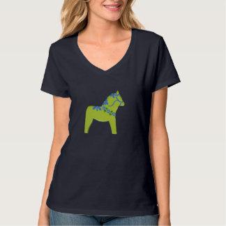 Camiseta del caballo de Dala del flower power