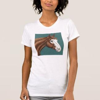 Camiseta del caballo de la pintura de Overo