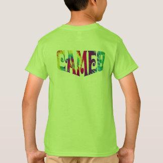 Camiseta del camafeo de los niños con el logotipo