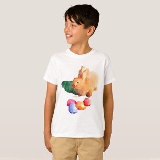 "Camiseta Del ""camiseta CONEJITO de PASCUA"" del muchacho"