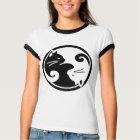 Camiseta del campanero de las mujeres de los gatos