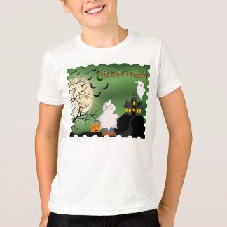 Camiseta del campanero del niño del fantasma del