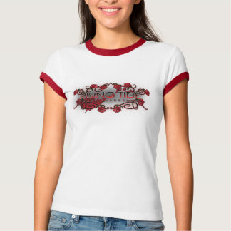 Camiseta del campanero del título de la creciente