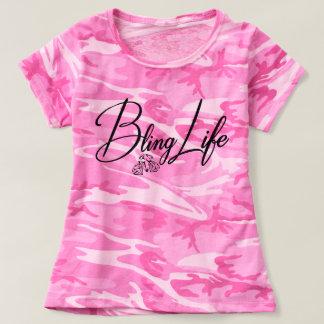 Camiseta del camuflaje de las mujeres de la vida