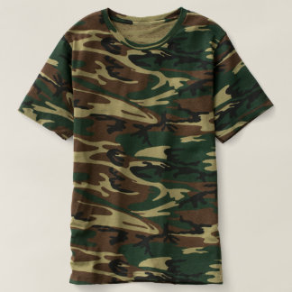 Camiseta del camuflaje de los hombres