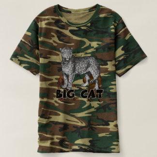 Camiseta del camuflaje de los hombres del leopardo
