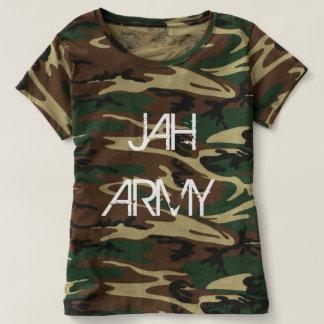 Camiseta del camuflaje del ejército de Jah