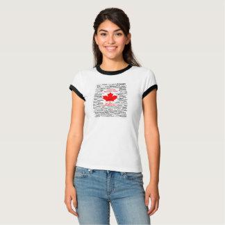 Camiseta del Canada150 de las mujeres con el