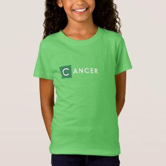 CAMISETA del CÁNCER - camiseta del verde del color