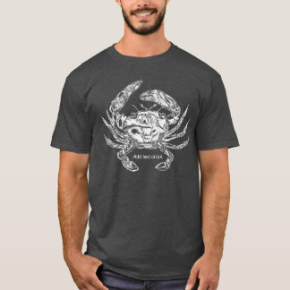 Camiseta del cangrejo con la opción del texto