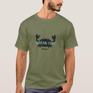 Camiseta del cangrejo de Maryland de la ciudad del