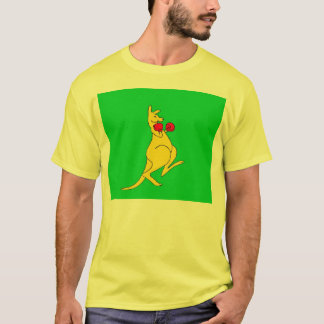 camiseta del canguro del boxeo