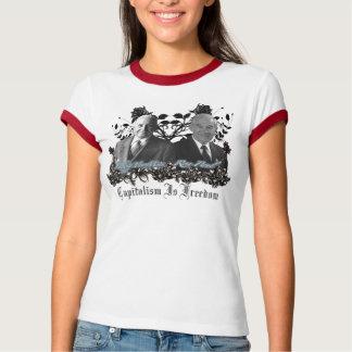 Camiseta del capitalismo/de la libertad (Ron Paul,