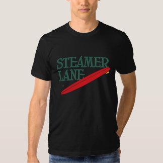 Camiseta del carril del vapor