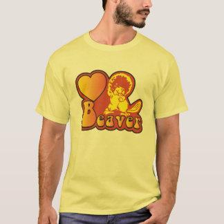 Camiseta del castor del amor