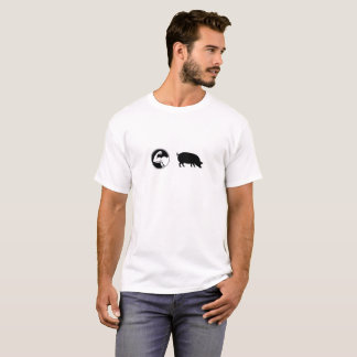 Camiseta del cerdo del músculo
