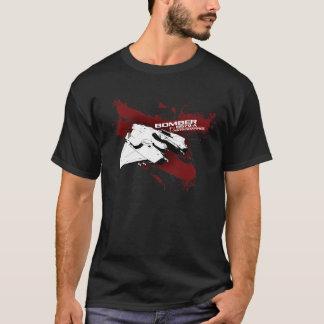 Camiseta del chapoteo del bombardero