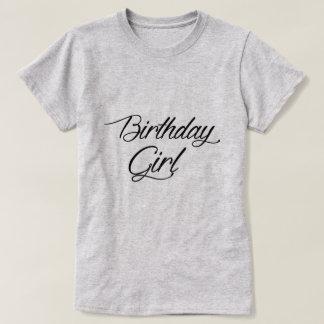 Camiseta del chica del cumpleaños