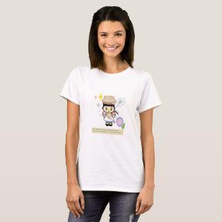 Camiseta del chica del dibujo animado del verano