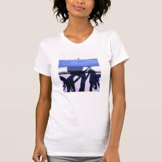 camiseta del chica del jinete de la bici