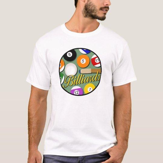 Camiseta del círculo del billar de los hombres