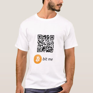 Camiseta del código de la cartera QR de Bitcoin