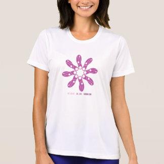 Camiseta del competidor del Deporte-Tek de la flor