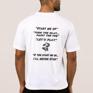 Camiseta del competidor del Deporte-Tek de las